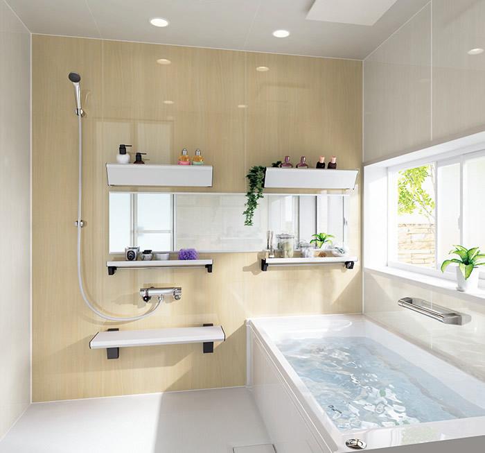 明るい印象のお風呂