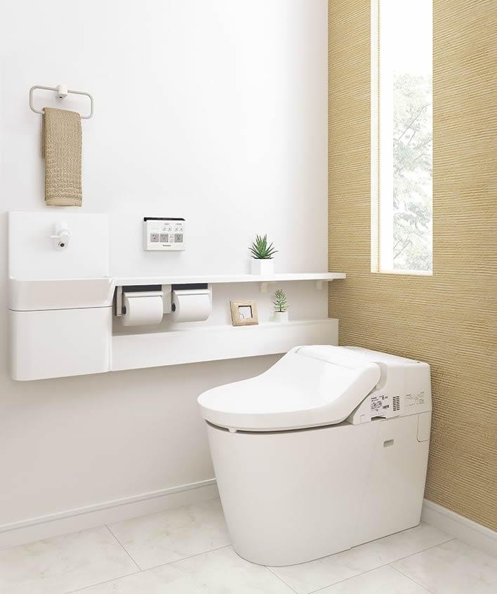 シンプルで明るいトイレ