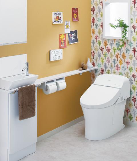オレンジの爽やかなトイレ