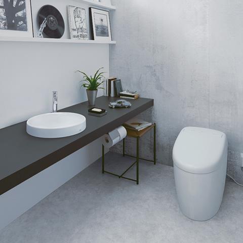 手洗いカウンター付きトイレ