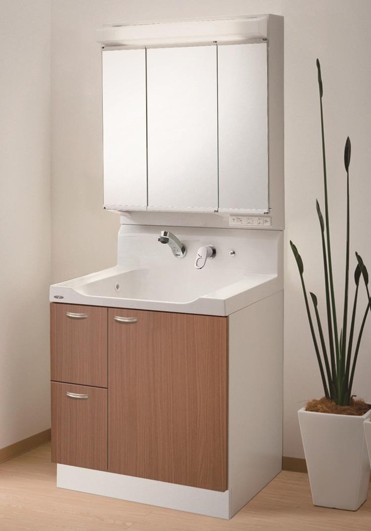 ウッド調の洗面台