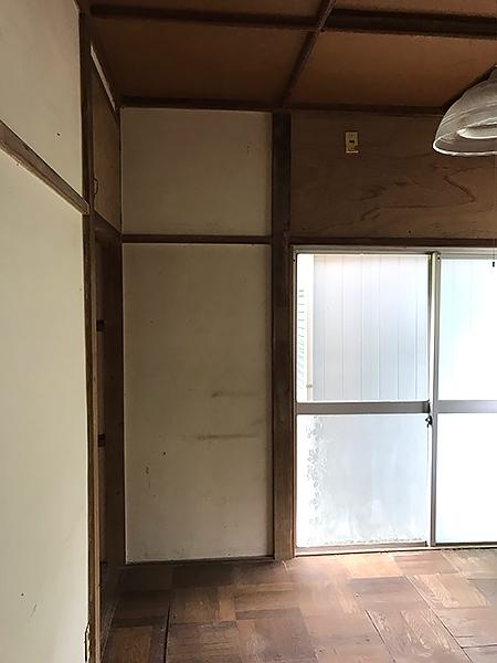千葉県香取市 痛んでいた和室を収納部屋にリフォーム