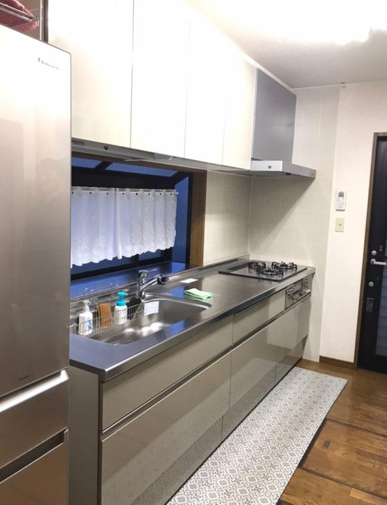 千葉県成田市 キッチンリフォーム キッチン本体と収納をグレードアップした使いやすく