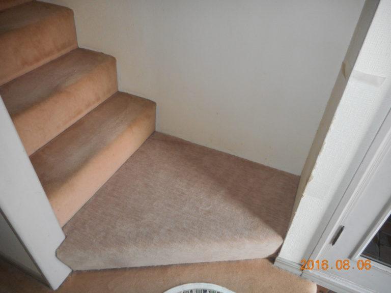 茨城県牛久市 階段カーペット|変色の出ていた階段カーペットをリフォーム