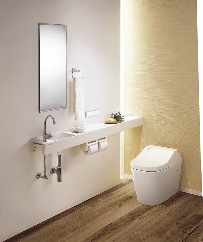 照明がおしゃれなトイレ