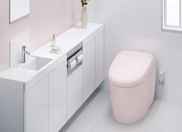 丸くてかわいらしいトイレ