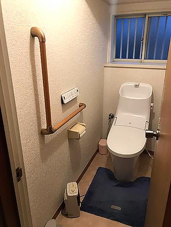 千葉県成田市トイレリフォーム|たわみのあった床をトイレ設備と併せて修繕し頑丈でフラットな床へ