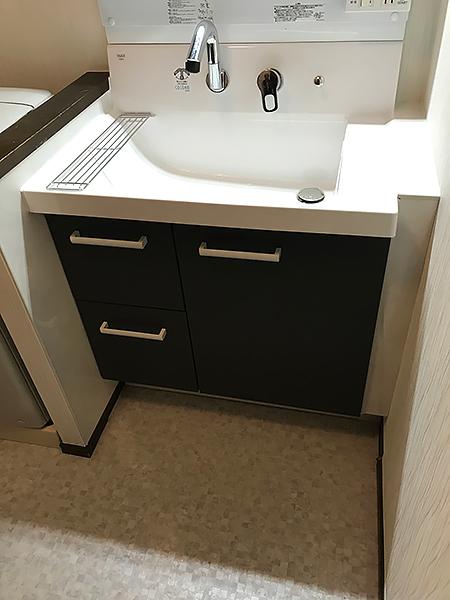 使いやすい幅の洗面台