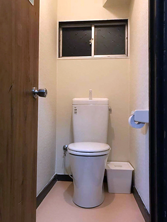 茨城県つくば市トイレリフォーム|座面が低く座りにくいトイレを座りやすく修繕