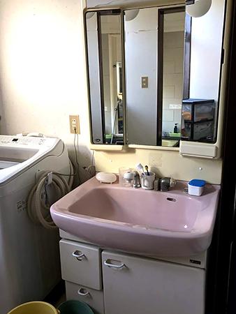 茨城県美浦村 洗面台リフォーム|洗面ボウルの大きなLIXILピアラに変更して使いやすく