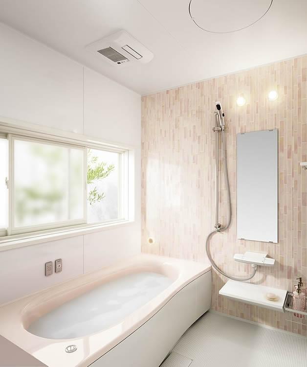 明るい色のお風呂