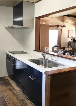 千葉県香取郡多古町 キッチンリフォーム|自分に合った高さの使いやすいキッチン