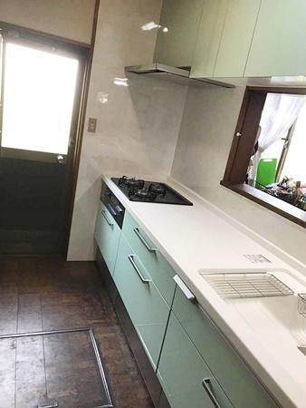 茨城県稲敷市キッチンリフォーム|コンロが壊れた…2日間で完工