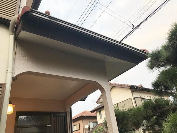 千葉県富里市軒天修理|塗装品ケイカル板で納まりもOK