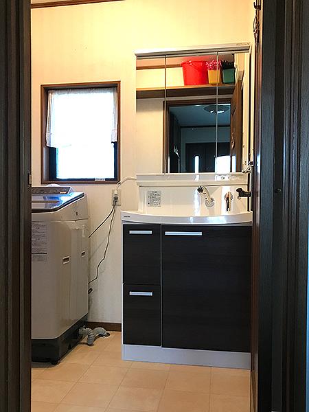 洗面台の水漏れリフォーム