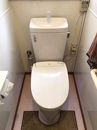 溝のないトイレの事例