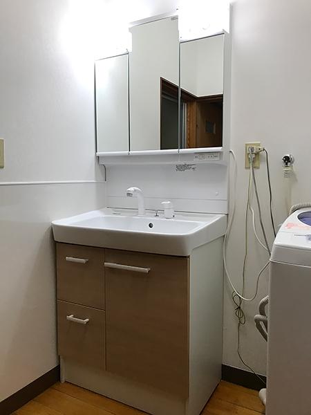 清潔感のある洗面台