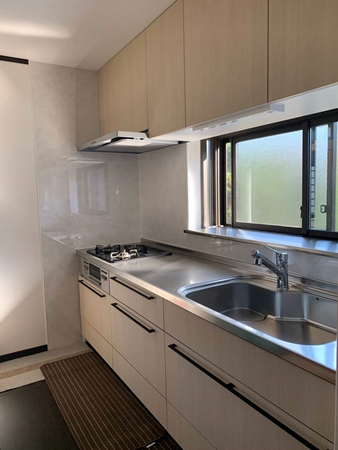 茨城県神栖市キッチンリフォーム|収納力アップにI型へ