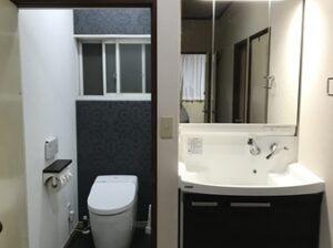 茨城県牛久市トイレ洗面化粧台リフォームアフター888写真