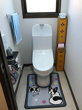 茨城県稲敷郡トイレリフォーム|LIXILリフォレで収納力アップ
