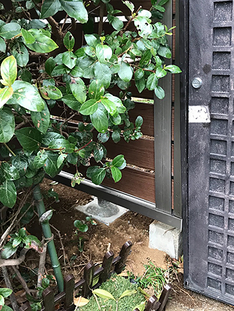 千葉県四街道市フェンスリフォーム 隙間の無いフェンスに変更