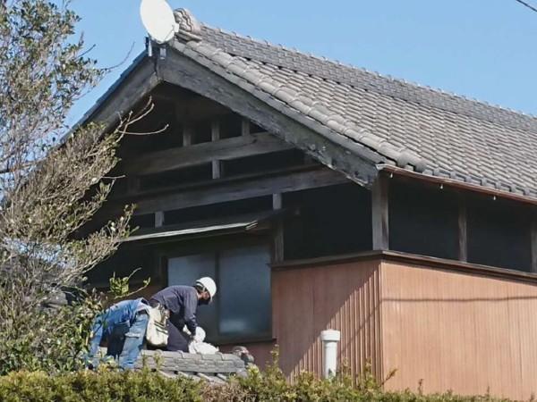 千葉県山武市屋根リフォーム 落ちた瓦の補修