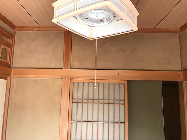 茨木県神栖市和室リフォーム 砂壁からクロス仕上げへ