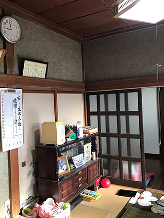 千葉県旭市洋室リフォーム 収納スペースを確保してすっきり