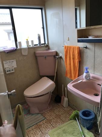千葉県成田市洗面化粧台トイレリフォーム|きれいな別空間に