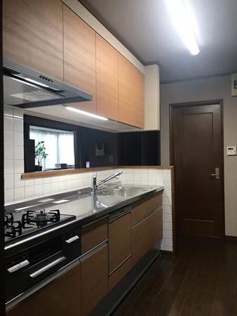 千葉県佐倉市キッチンリフォーム|既存のタイルはそのままに